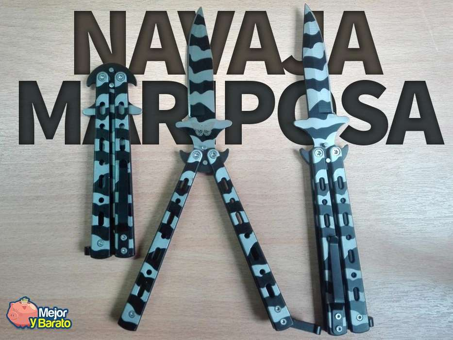 Navaja Mariposa Balisong Cuchillo De Táctica Camuflada