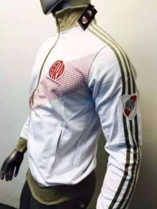 Campera Retro River Plate Blanca