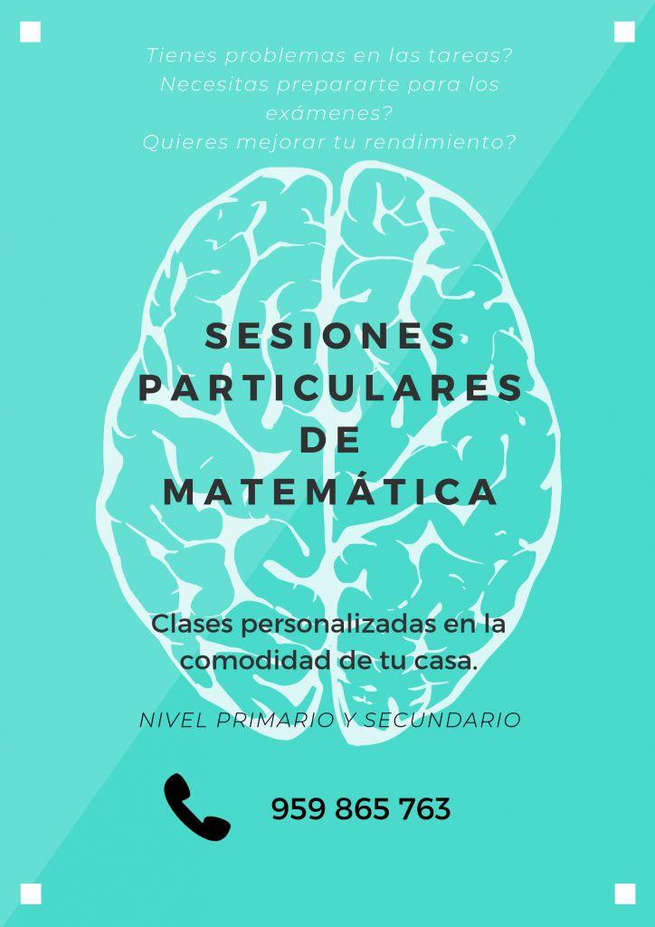 Profesor particular de Matemáticas, clases en la comodidad de tu hogar. Chiclayo, Reque y alrededores.