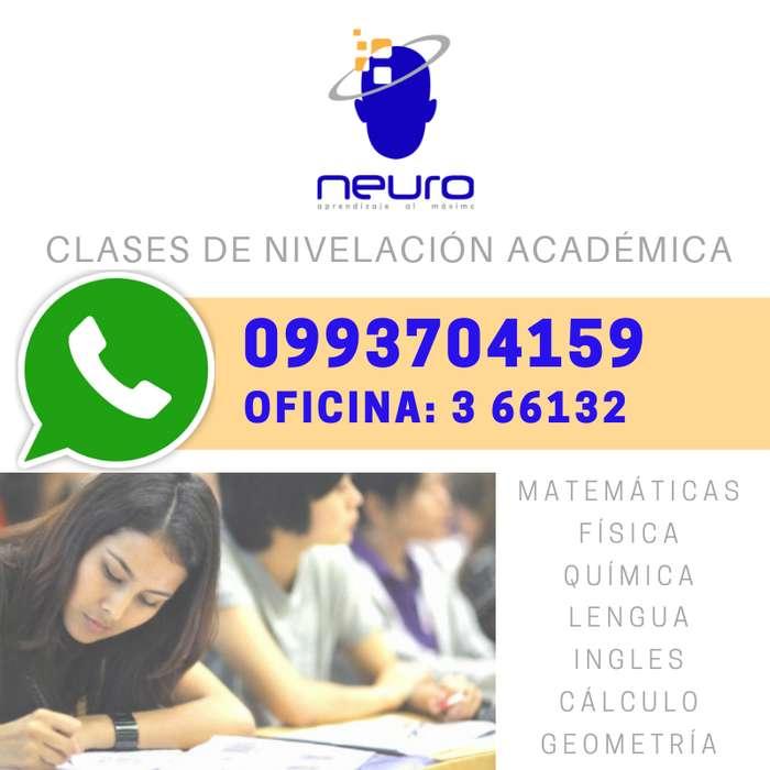 ¡¡¡ CLASES DE NIVELACIÓN!!! MATEMÁTICAS * FÍSICA * QUÍMICA * CENTRO DE APRENDIZAJE NEURO0993704159 - 3 661312