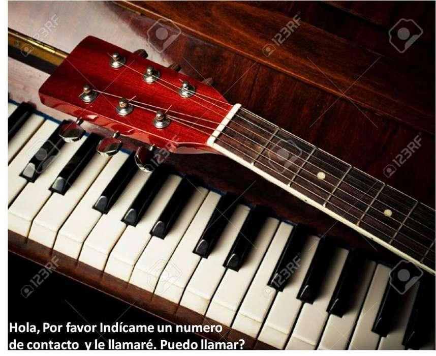 Clases Piano, Guitarra, Canto a Domicilio