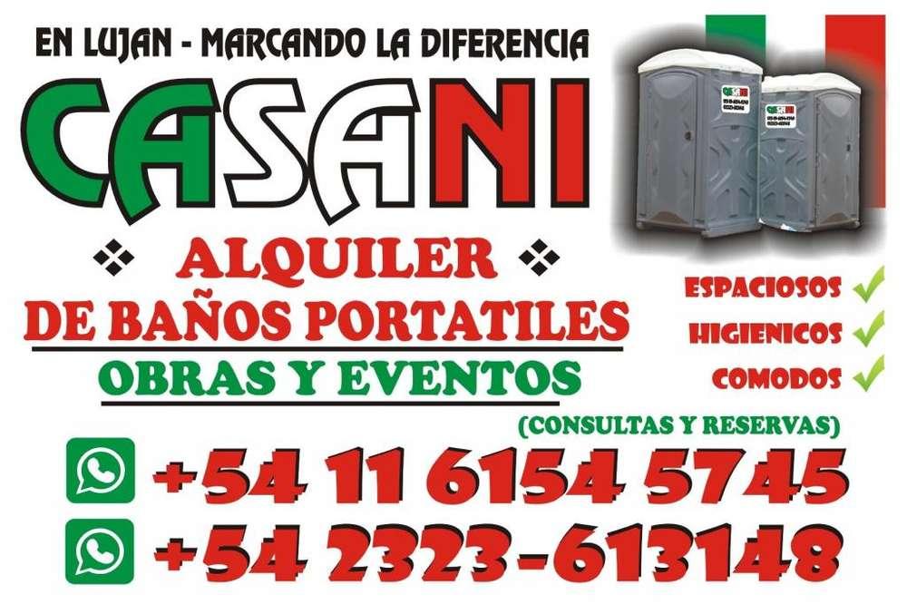 ALQUILER DE BAÑOS PORTATILES PARA OBRAS Y EVENTOS!! EN ZONA OESTE !!