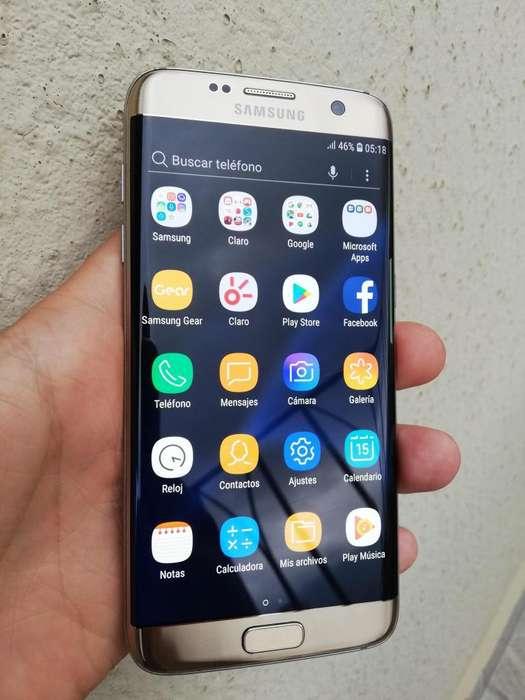 Samsung Galaxy S7 EDGE, Dorado, 4GB RAM, Todo Original, Excelente estado.