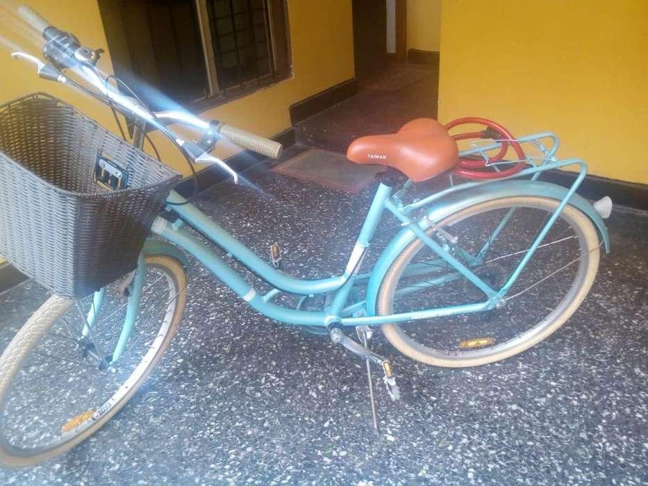 Bicicleta modelo VINTAGE mujerdama paseo Estilo holandes aqua