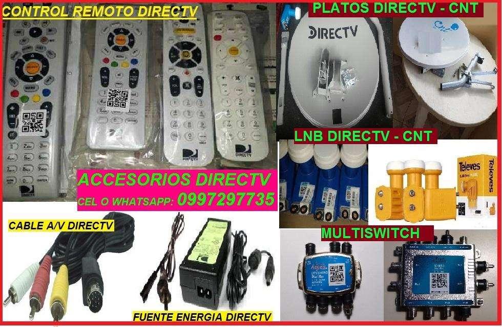 REPUESTO ORIGINAL DIRECTV : CONTROL REMOTO, CABLE DE AUDIO VIDEO Y COAXIAL, FUENTE ENERGIA, HDMI