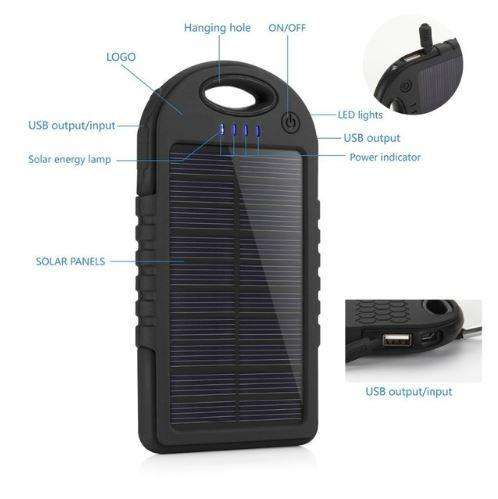 Cargador Solar Portátil para Celulares