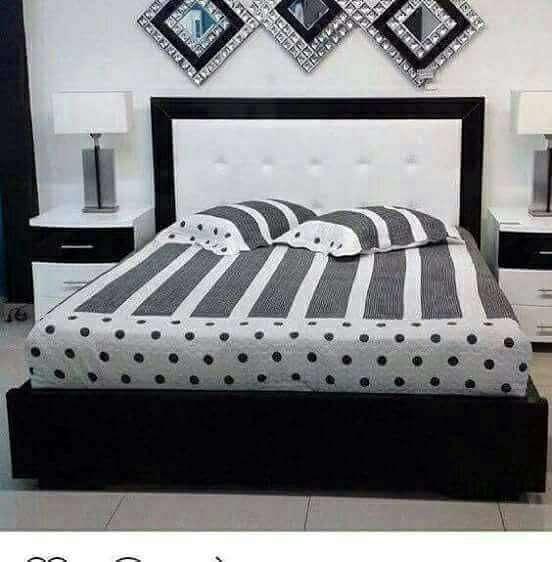 hermosa cama en cedro