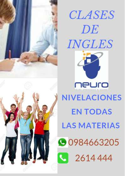 CLASES DE INGLES PARA BÁSICA Y BACHILLERATO