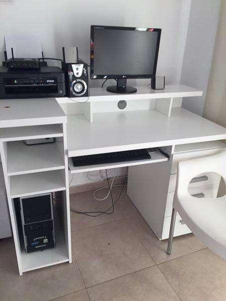<strong>escritorio</strong> DE MELAMINA BLANCO