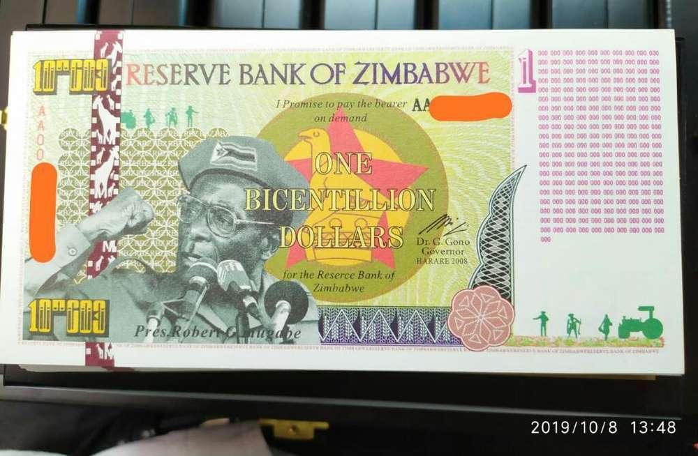 Venta Billetes Numismaticos Zimbabwe
