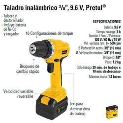 Taladro Inalambrico Pretul 9.6 V