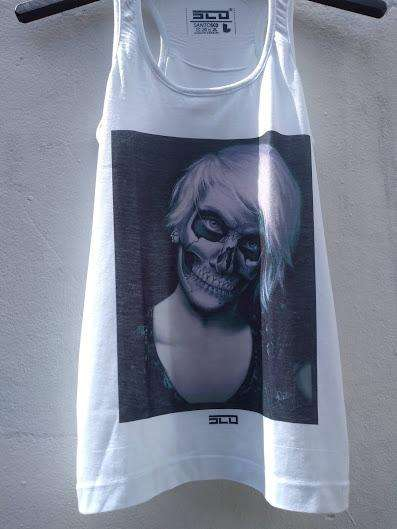 Musculosa <strong>mujer</strong> Talle L Estampada