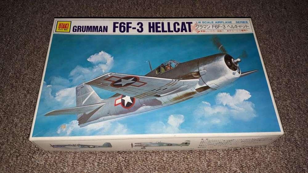 Maqueta para armar avion grumman f6f 3 hellcat otaki 1/48
