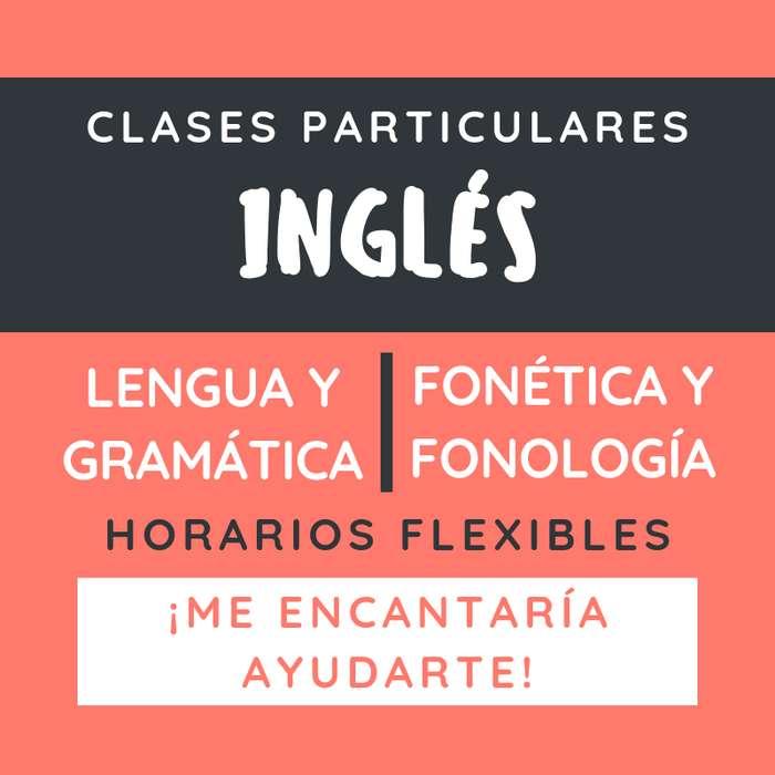 Clases de inglés: Fonética Lengua y Gram. - 250 por 1hr30min - Bqras