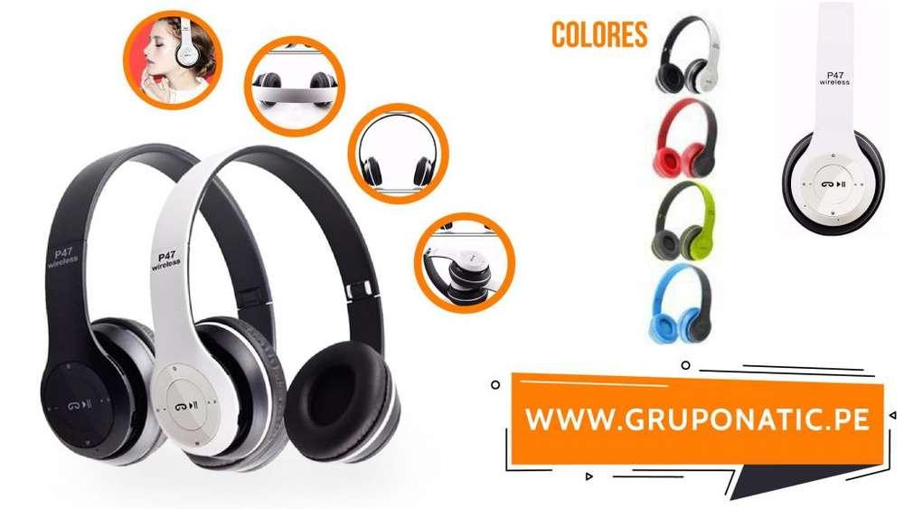 Audifonos Bluetooth 4.1 Radio FM slot Sd Gruponatic San Miguel Surquillo Independencia La Molina Whatsapp 941439370