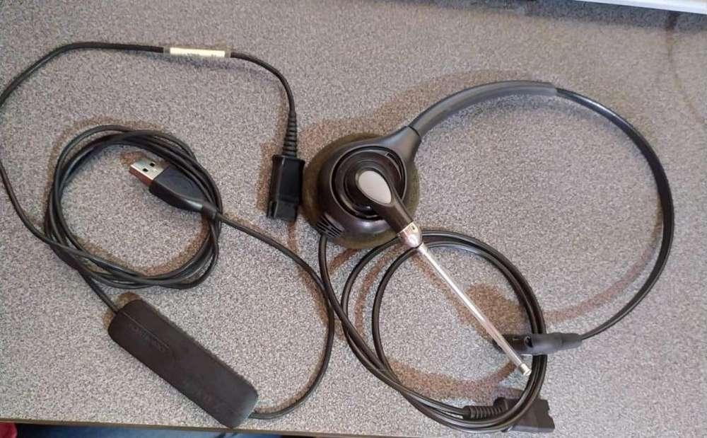 Diademas HW251 plantronics con amplificador DA40