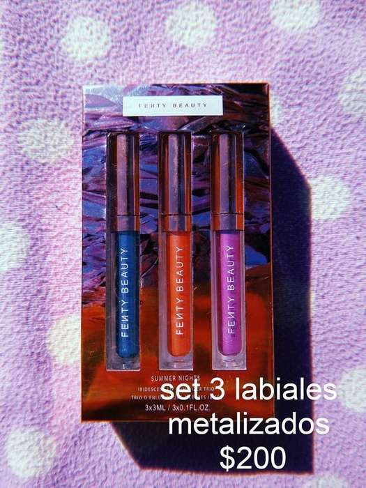 Set 3 Labiales Metalizados Fenty Beauty