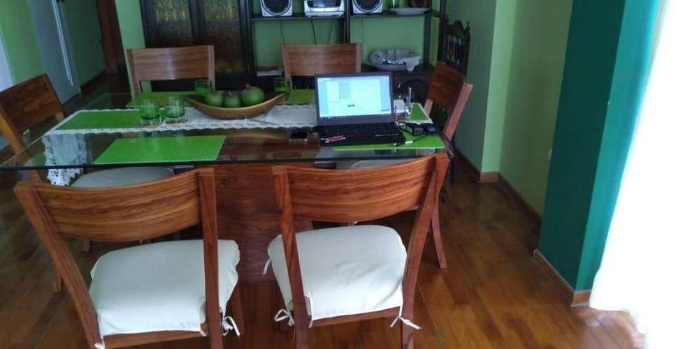 lindo juego de comedor 6 sillas
