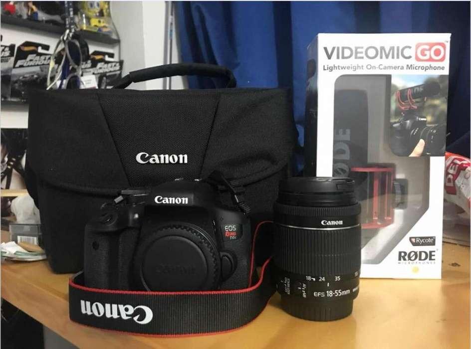 Camara Canon T6I Casi Nueva