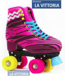 Patines Soy Luna 4 Ruedas de Color y con Kit de Protección