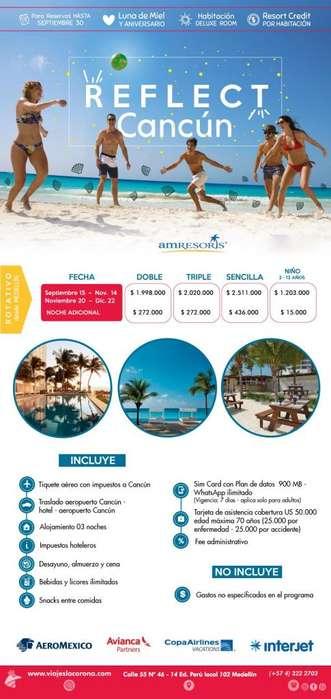 Viaje como un Rey a Cancún 3 Noches con Viajes la Corona 2019