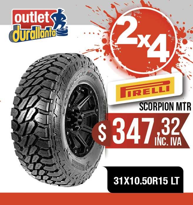 <strong>llanta</strong>S 31X10.50R15 LT PIRELLI SCORPION MTR