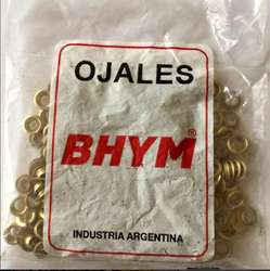 Ojales de bronce con arandelas, gruesa número 20