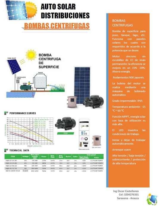 Bombas centrigufas solares