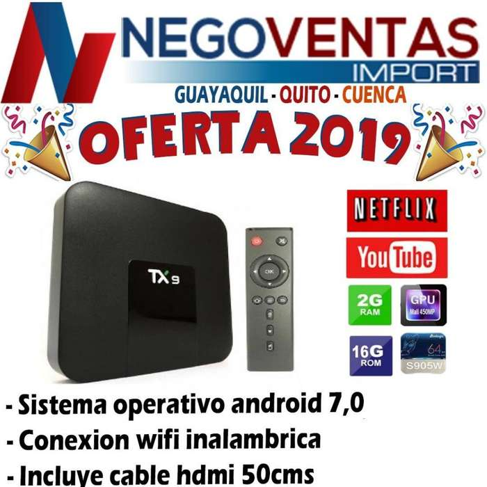 TV BOX TX 9 2GB RAM 16 GB INTERNA CONVIERTE A TU TV EN SMART TV DE OFERTA