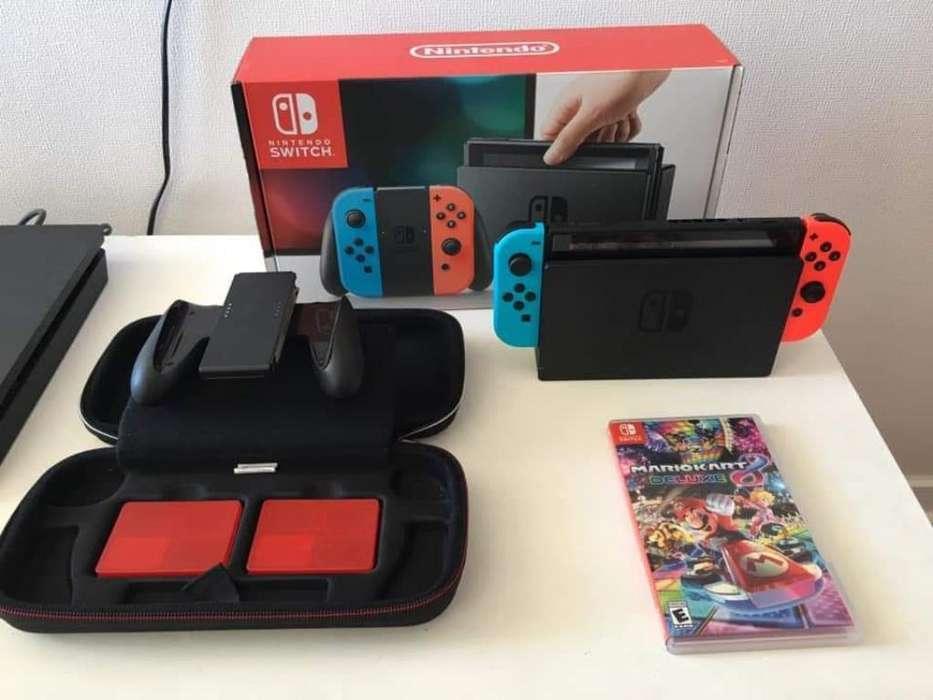 Switch Nintendo Neon Blue