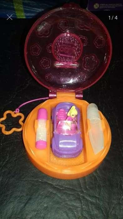 Mini Polly Pocket con Auto para Decorar