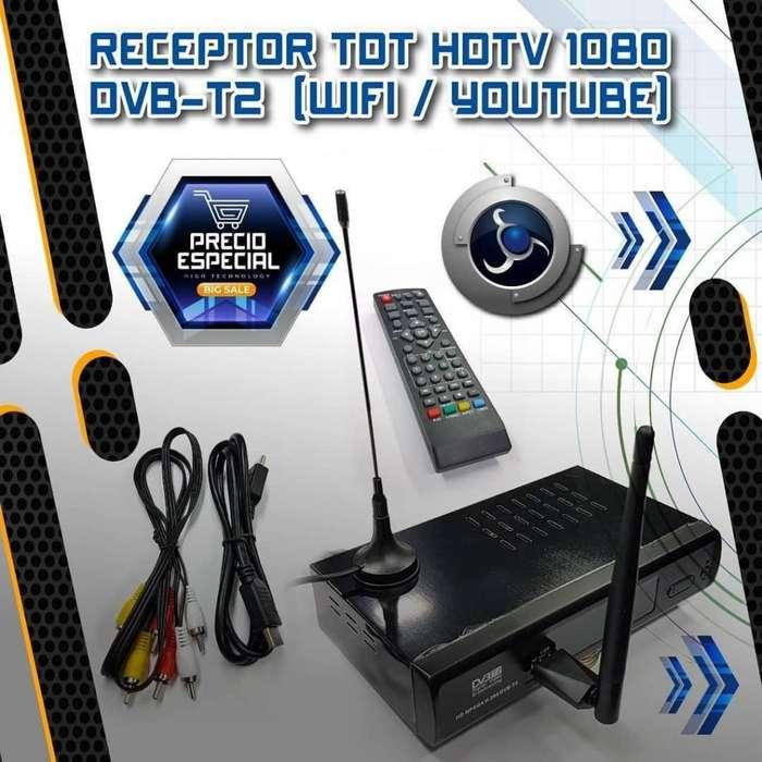 RECEPTOR TDT HDTV 1080 DVB-T2 (WIFI / YOUTUBE) **NUEVO**