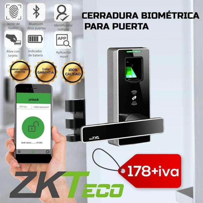 CERRADURA ELECTRICA INTELIGENTE. ML 10 ZKTECO. CERRADURA BIOMETRICA. ACCESO MOVIL