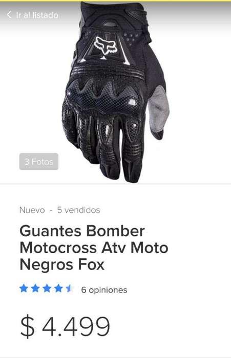 Vendo Guantes Bomber Glov Fox Poco Uso