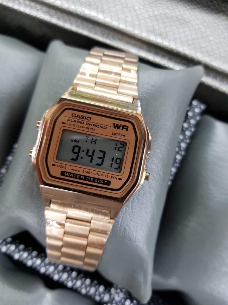 a22b8f2b6a01 Reloj Casio Retro Oro Rosa - Cali