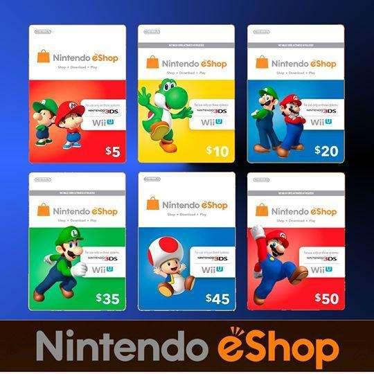 Tarjeta Eshop Nintendo Wii U3DS Card Gift 10 20 TARGET Código Digital Nintendo Prepago