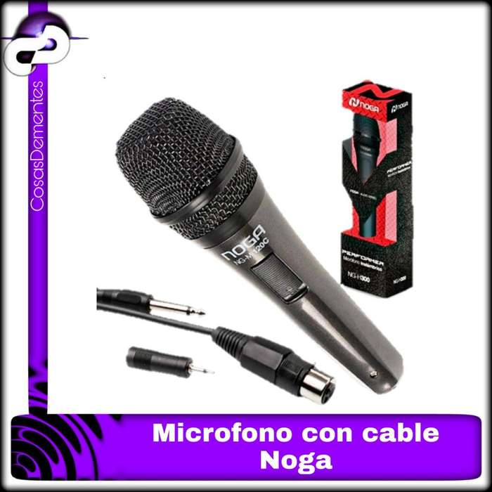 MICRÓFONO NOGA IDEAL P/ KARAOKE/PC