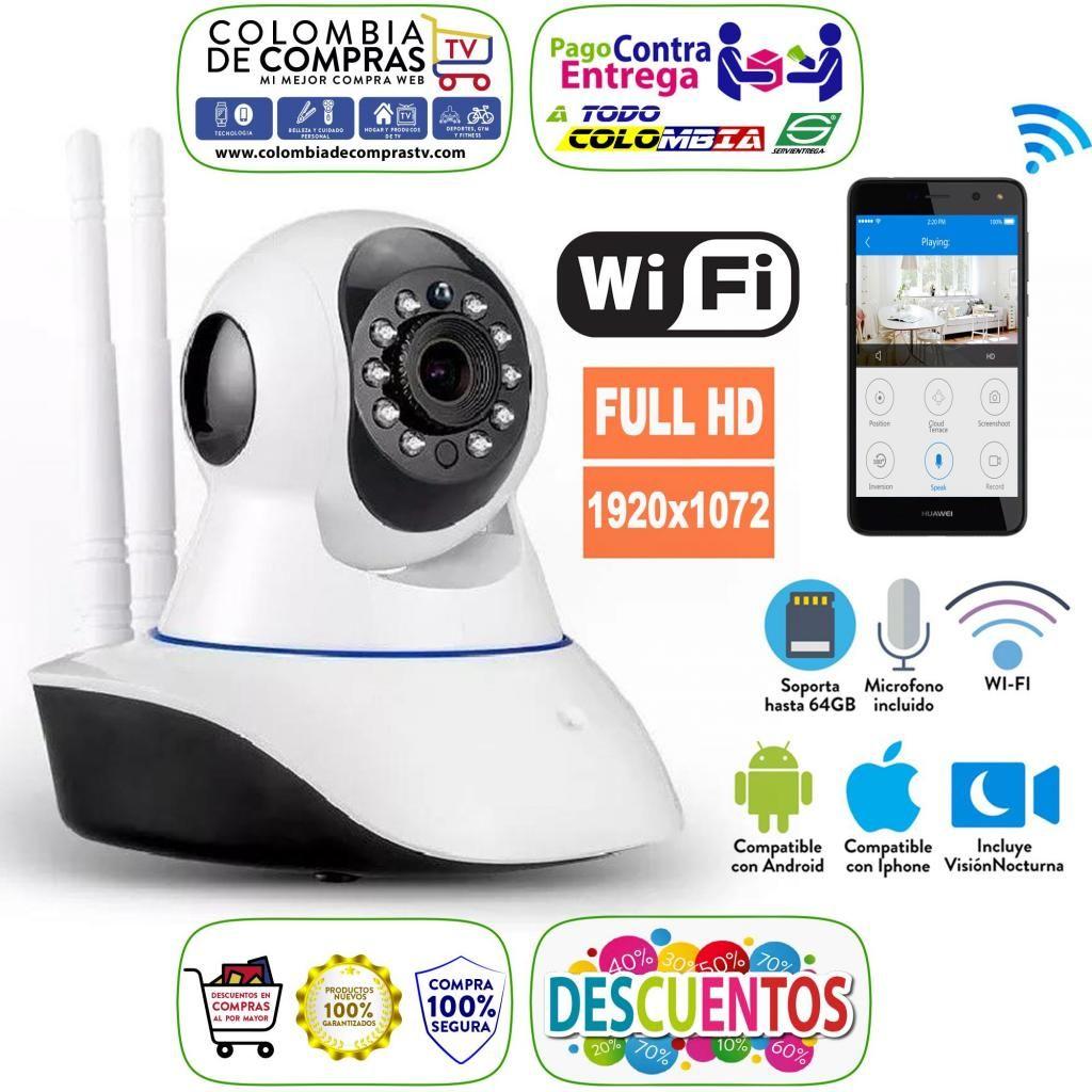 Cámara Seguridad Robótica Ip, Wifi, Visión Nocturna, Full Hd, Nuevas, Garantizadas...