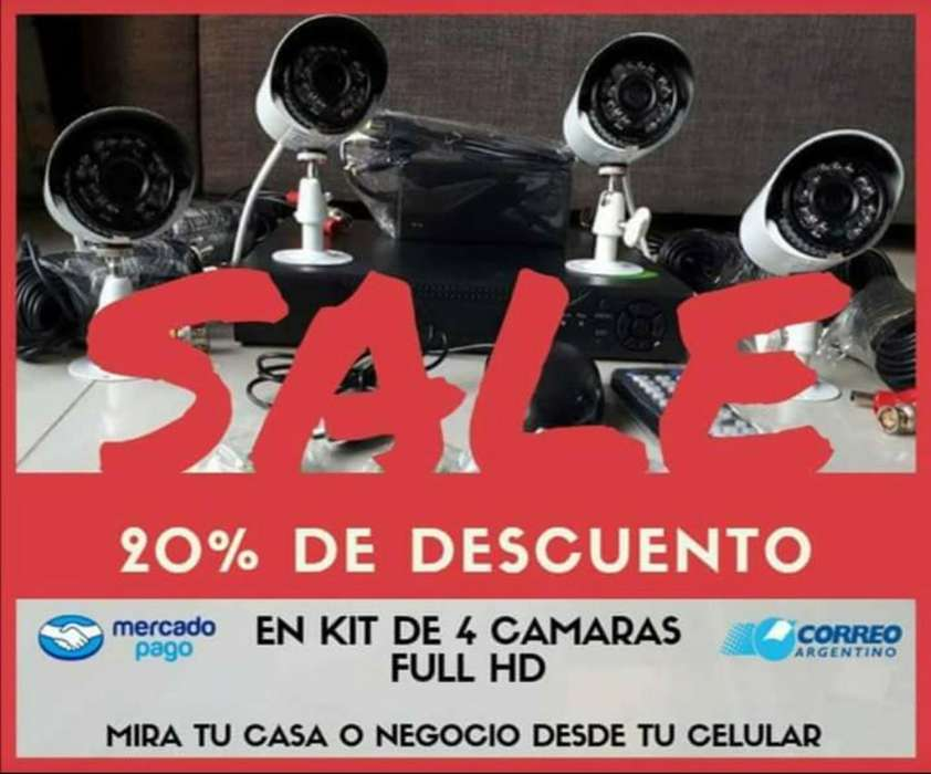 Imperdible?? Kit 4 Cámaras Full Hd