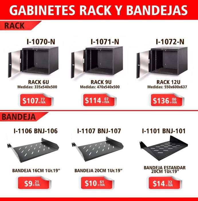 RACK /BANDEJAS PARA CABLEADO / CANALETAS /