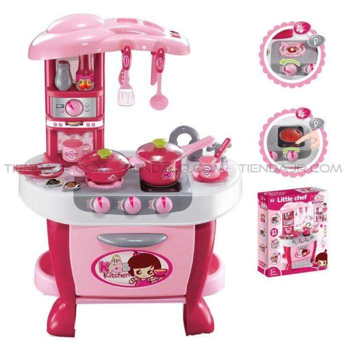 Cocinas Para Niñas Little Chef Juguete Con Accesorios Luces y Sonidos