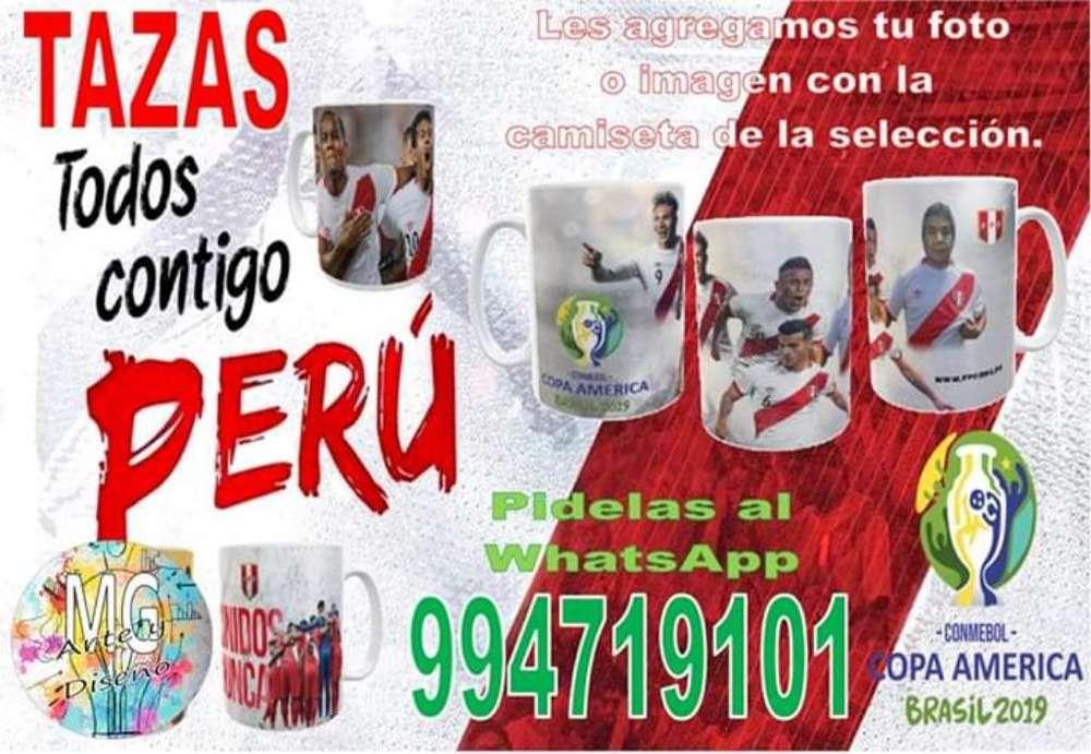 Taza Perú Copa América Brasil 2019