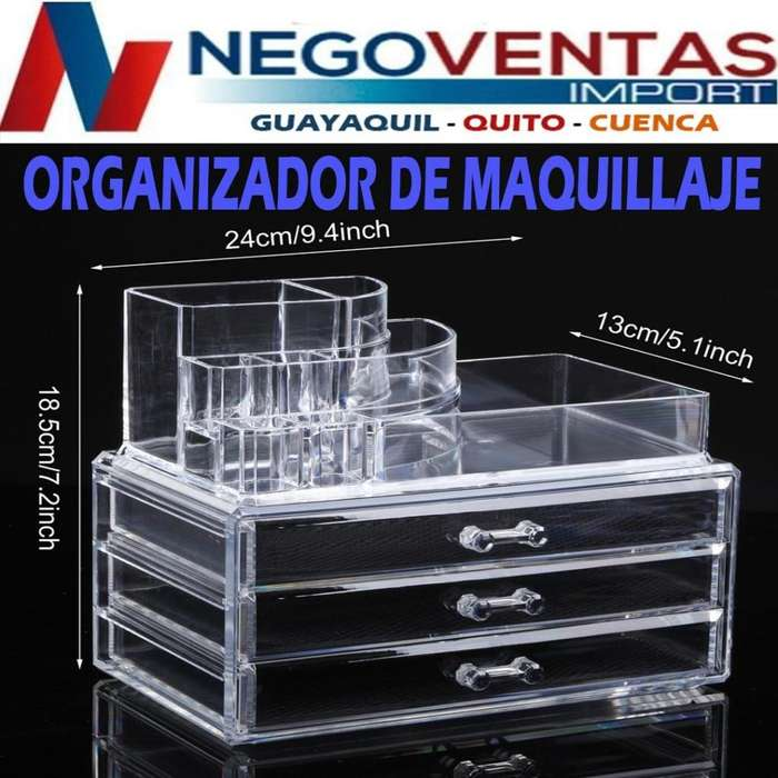 ORGANIZADOR ACRÍLICO DE COSMÉTICOS
