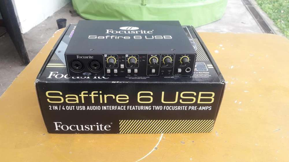 INTERFACE FOCUSRITE SAFFIRE 6 USB PLAZA DE AUDIO
