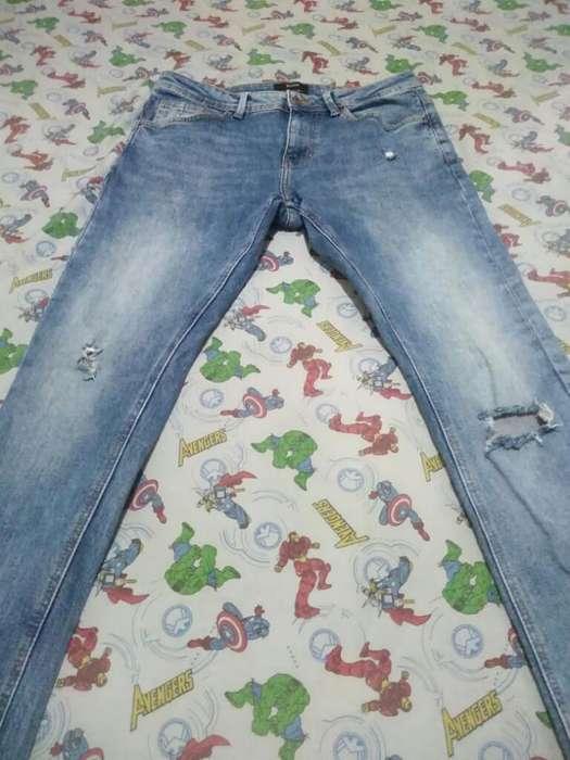 Jeans Berska Talla 10 Como Nuevo