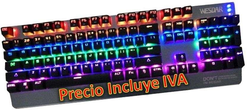 Teclado Gamer Wesdar Mk4 Retro Iluminado Nuevos PRECIO INCLUYE IVA