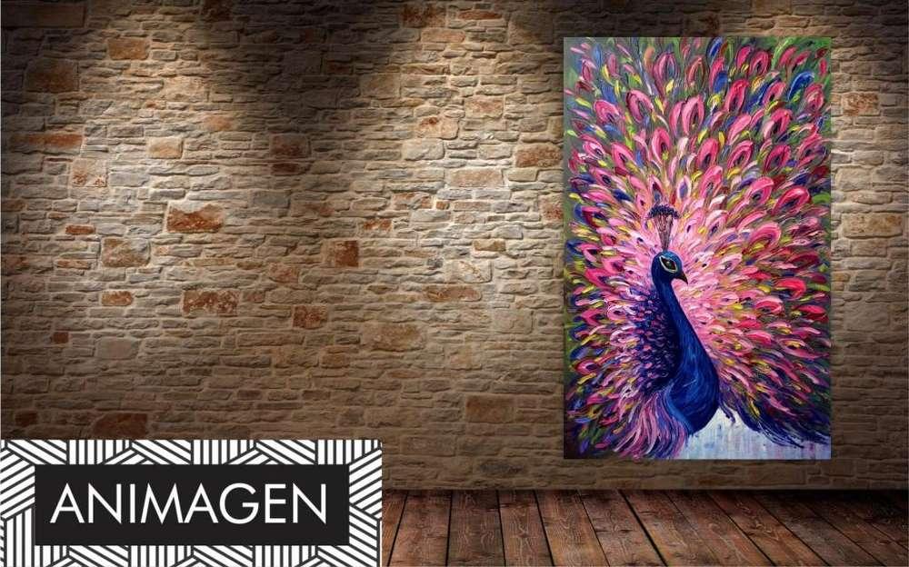 Cuadro decorativo de pavo real 2396