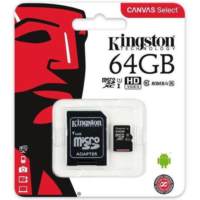 TARJETA DE MEMORIA 64 GB CLASE 10