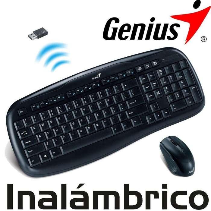 Teclado y Mouse Inalambrico Genius Nuevo
