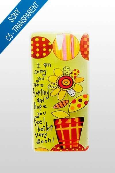 Sony Xperia C5 - Estuche Transparente Girasol / Summer